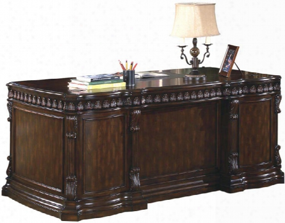 "72"" Double Pedestal Executive Desk By Coaster Furniture"