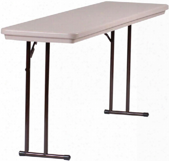 "72"" X 18"" Blow Molded Folding Seminar Table By Correll"