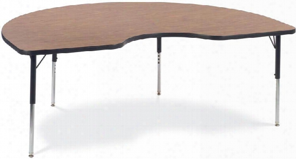 "72"" X 48"" Kidney Shaped Activity Table By Virco"