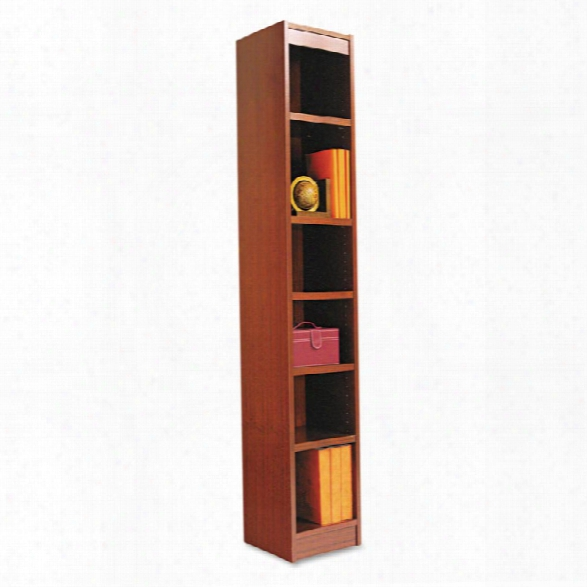 """72""""h Square Corner Bookcase By Alera"""