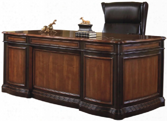 "74"" Double Pedestal Executive Desk By Coaster Furniture"