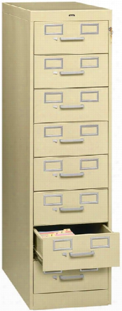 8 Drawer Card File By Tennsco