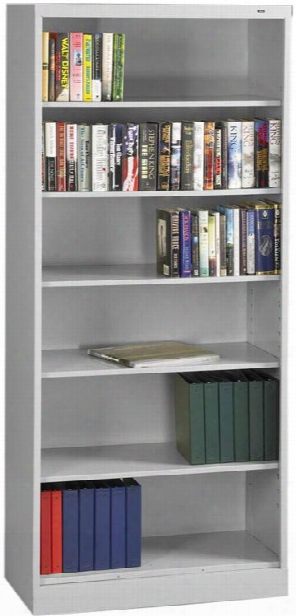 "84""h X 18""d Heavy Duty Steel Bookcase By Tennsco"