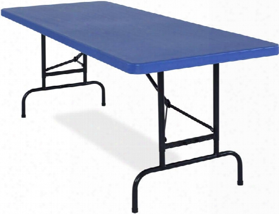Adjustable Height Blow Molded Folding Table By National Public Seating
