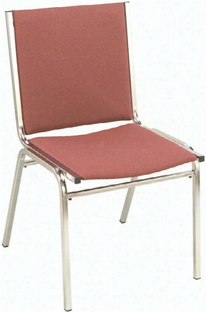 Armless Fabric Stack Chair With Chrome Frame By Kfi Seating