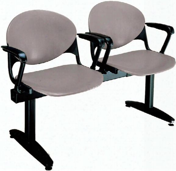 Beam 2 Seat Bench With Arms By Kfi Seating