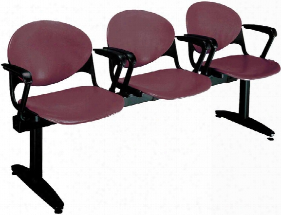 Beam 3 Seat Bench With Arms By Kfi Seating