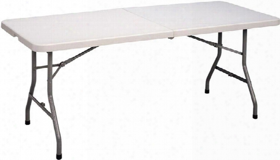 Blow Molded Fold In Half Table By Correll