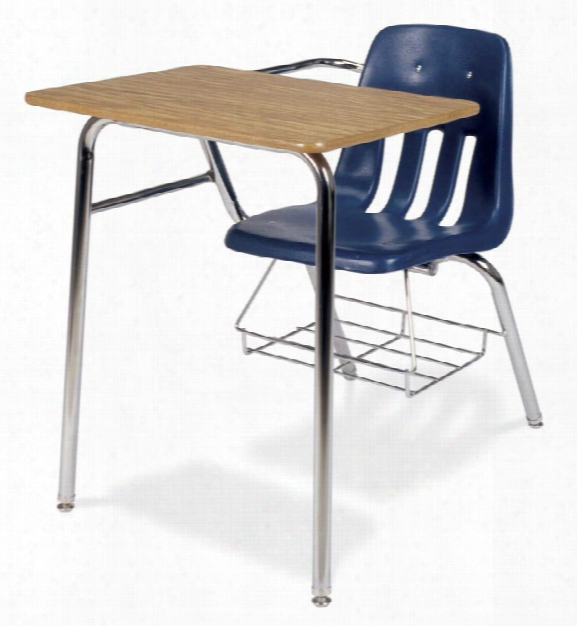 Chair Desk With Bookrack By Virco