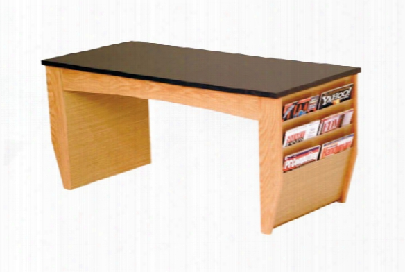 Coffee Table With Magazine Pockets By Wooden Mallet