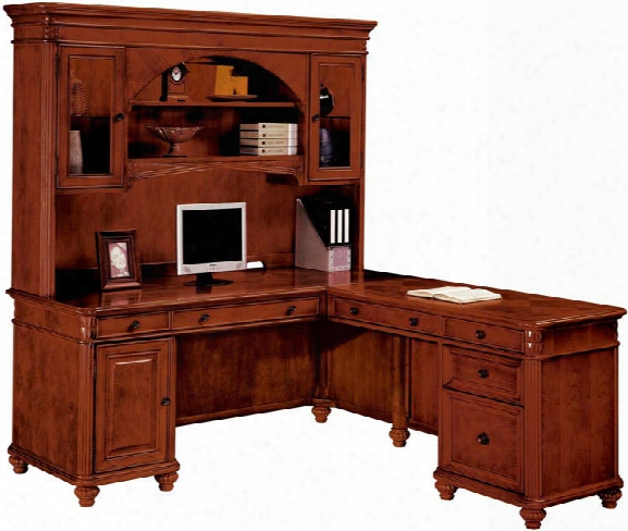 Computer L Shaped Desk With Hutch By Dmi Office Furniture