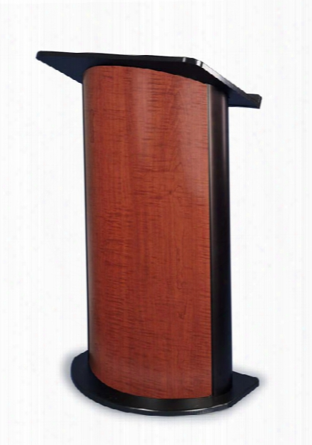 Contemporary Curved Color Panel Lectern By Amplivox