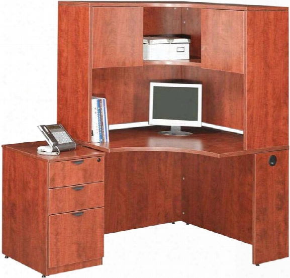 Corner Desk With Hutch And File By Office Source