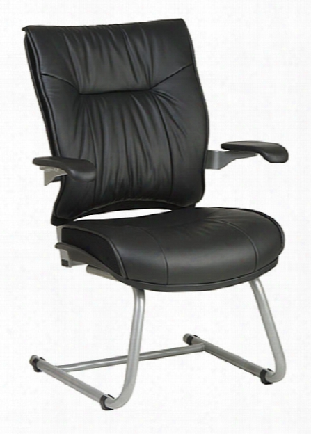 Deluxe Leather Visitors Chair By Office Star
