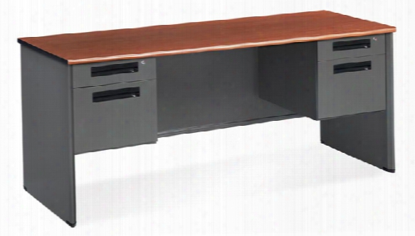 Double Pedestal Executive Steel Credenza By Ofm