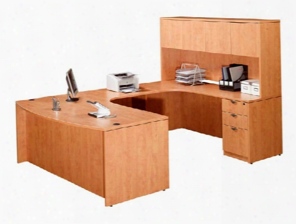 Double Pedestal U Shaped Desk With Hutch By Marquis