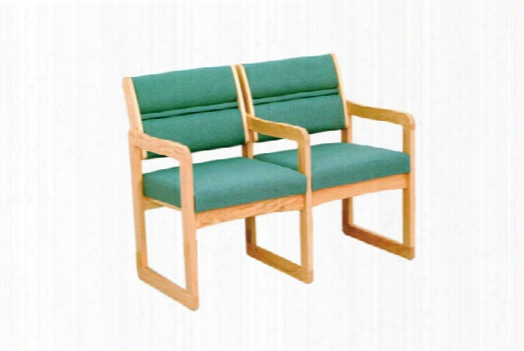 Double Sled Base Chair With Arms By Wooden Mallet