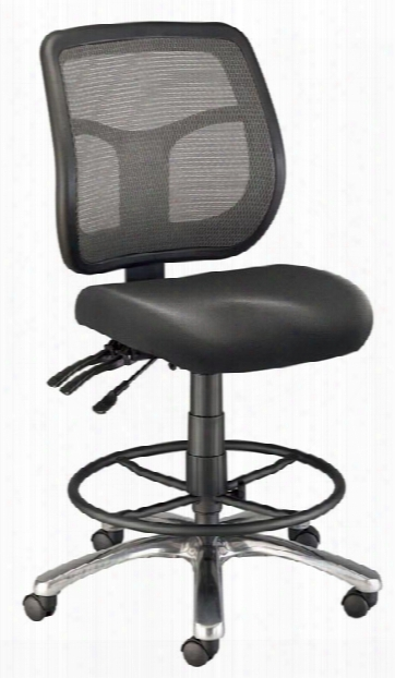 Drafting Height Argentum Mesh Back Chair By Alvin