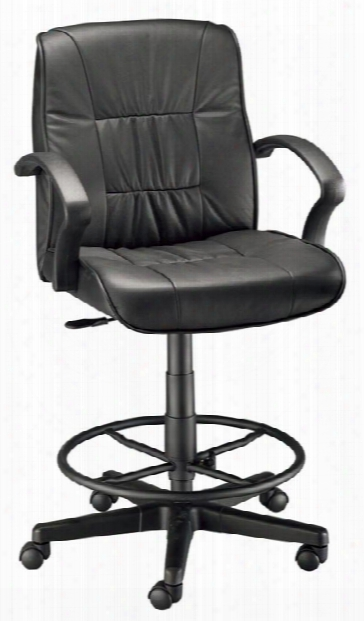 Drafting Height Art Director Executive Leather Chair By Alvin