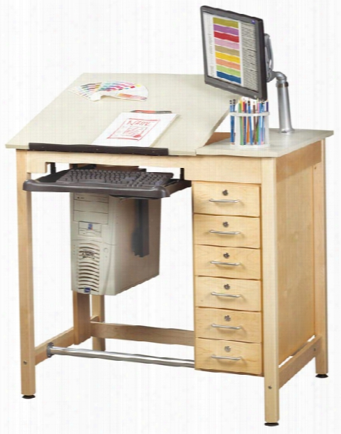Drawing Table With Drawers By Shain Solutions