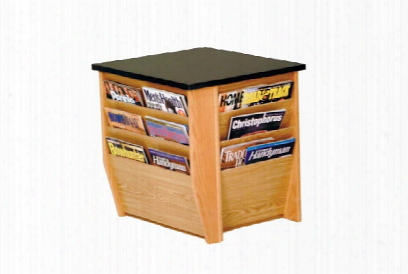 End Table With Magazine Pockets By Wooden Mallet