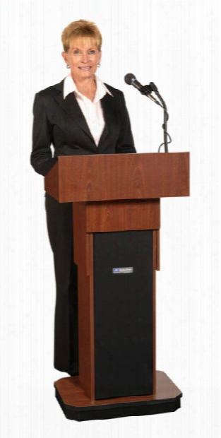 Executive Adjustable Height Sound Column Lectern By Amplivox