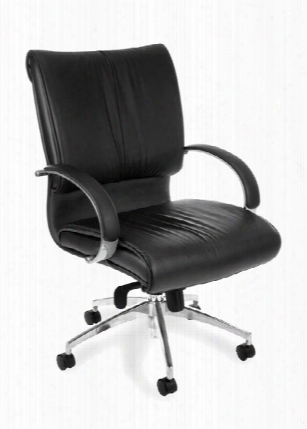 Executive Leather Mid Back Chair By Ofm