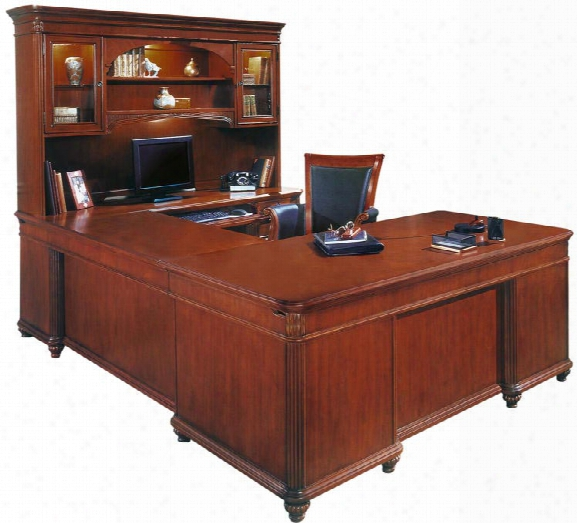 Executive U Shaped Desk With Hutch By Dmi Office Furniture