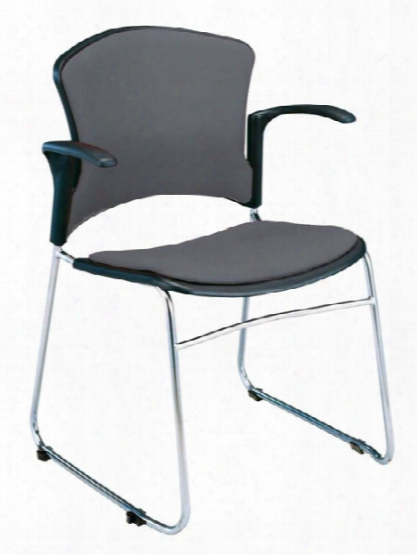 Fabric Seat And Back Stack Chair With Arms By Ofm