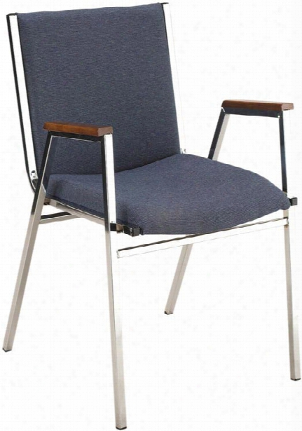 Fabric Stack Chair With Arms And Chrome Frame By Kfi Seating