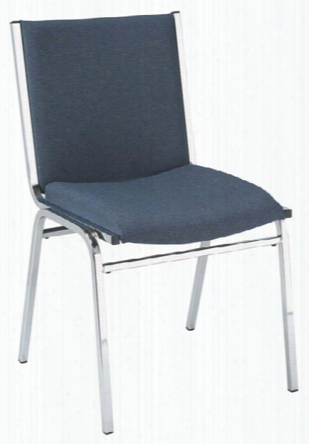 Fabric Stack Chair With Chrome Frame By Kfi Seating
