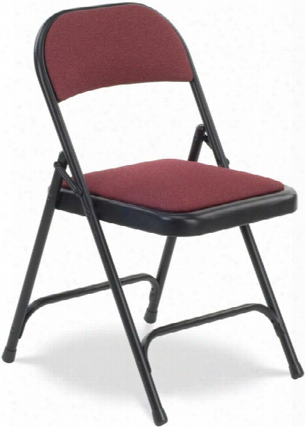 Fabric Upholstered Folding Chair By Virco