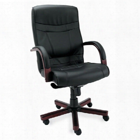 High Back Leather Swivel Chair By Alera