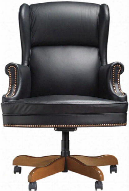 Judges Executive Leather Swivel Chair Through  High Point Furniture