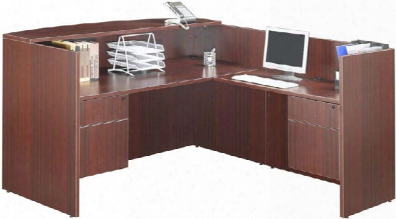 L Shaped Reception Desk In Proportion To Marquis