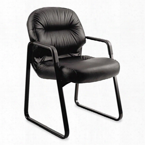 Leather Guest Arm Chair By Hon
