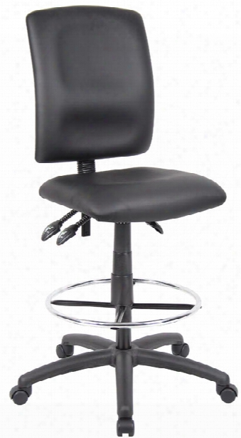 Leather Plus Multi Function Drafting Stool By Boss Office Chairs