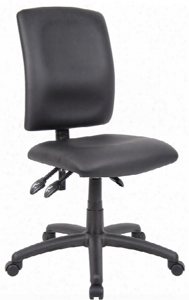 Leather Plus Multi Function Task Chair By Boss Office Chairs