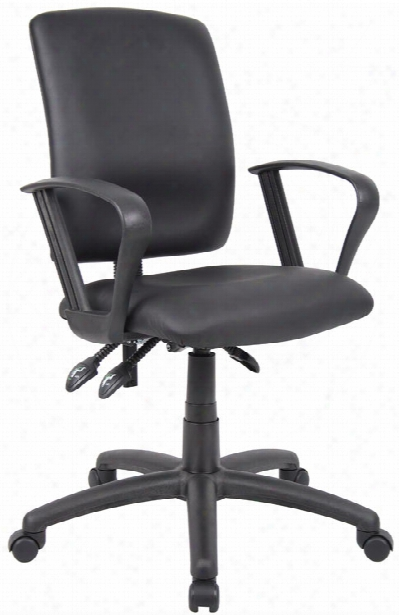 Leather Plus Task Chair With Looparms By Boss Office Chairs