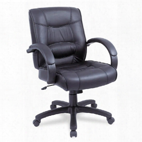 Mid Back Leather Chair  By Alera