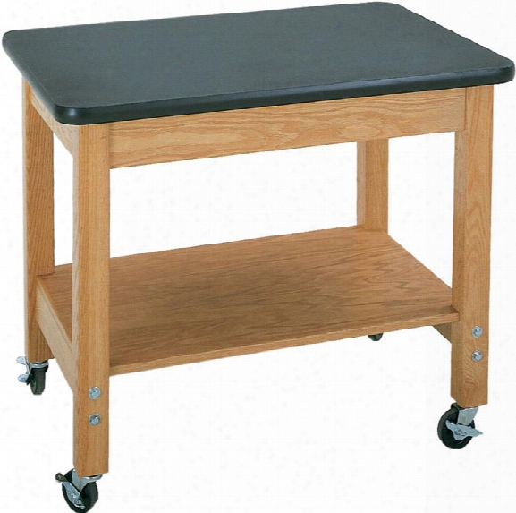 Mobile Demo Cart With Laminate Top By Diversified Woodcrafts