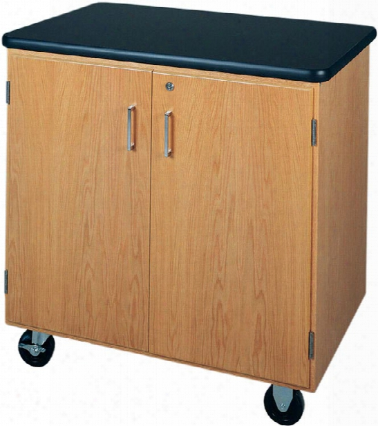 Mobile Storage Cabinet With Laminate Top By Diversified Woodcrafts
