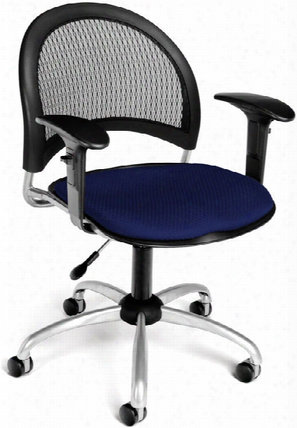 Moon Swivel Chair With Arms By Ofm