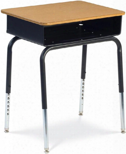 Open Front Student Desk With Metal Book Box By Virco