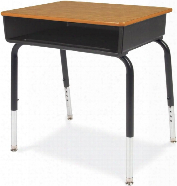 Open Front Student Desk With Plastic Book Box By Virco