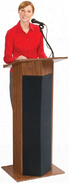 Power Plus Floor Lectern By Oklahoma Sound