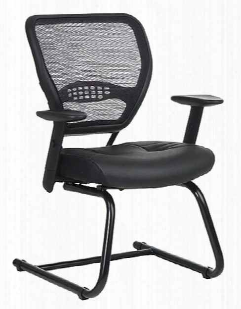 Professional Air Grid Back Sled Base Chair By Office Star