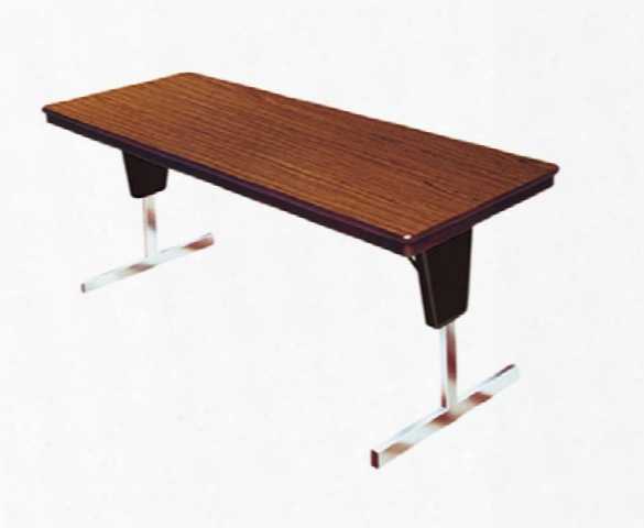 """Saturna 60"""" X 30"""" Adjustable Height Folding Table By Mitchell"""