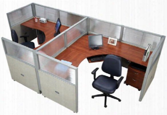 Set Of 2 Workstations By Ofm