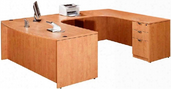 Single Pedestal U Shaped Desk By Marquis
